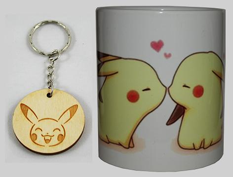 Taza Pikachu beso