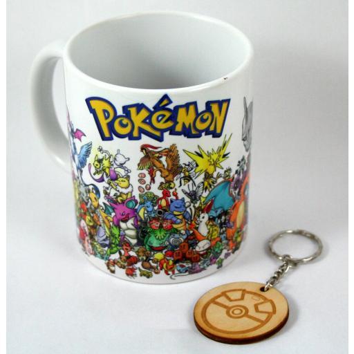 Taza y llavero Pokemon 1º Generacion