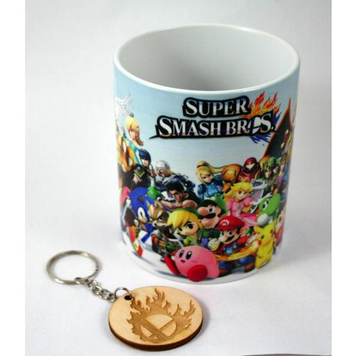 Taza y llavero Super Smash Bros