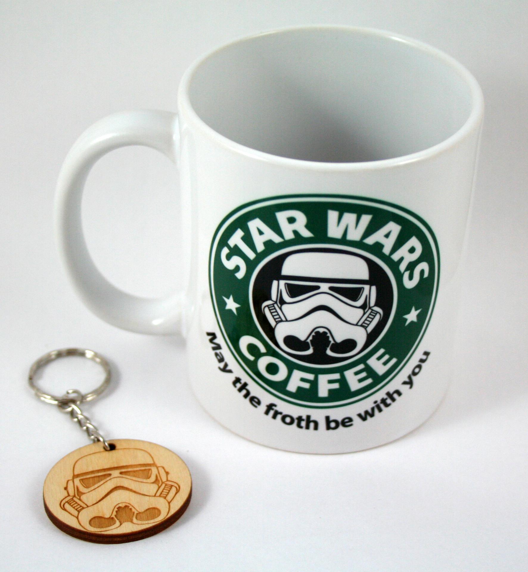 Taza y Llavero Star Wars Coffee