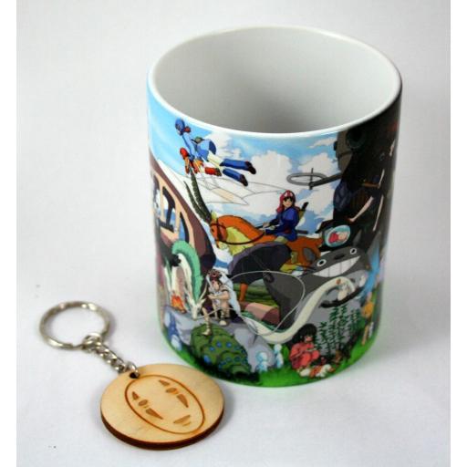 Taza y Llavero Studio Ghibli