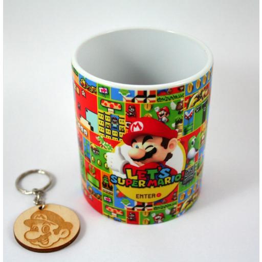 HobbyElx Taza y Llavero Super Mario
