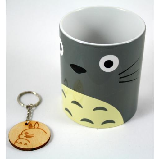 Taza y llavero Totoro cara