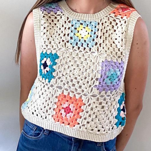 Top Crochet Colores