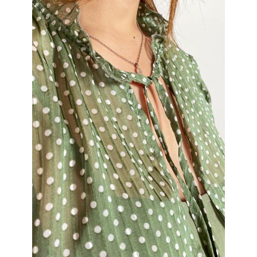 Vestido Topos Verde [1]