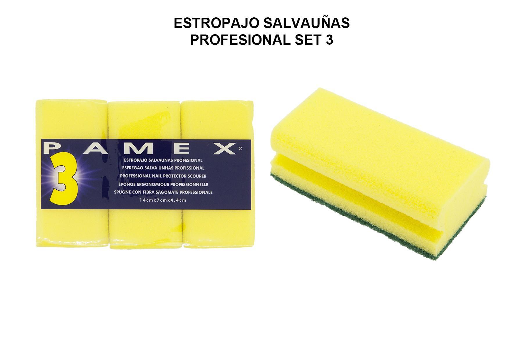 ESTROPAJO SALVAUÑAS PROFESIONAL SET 3
