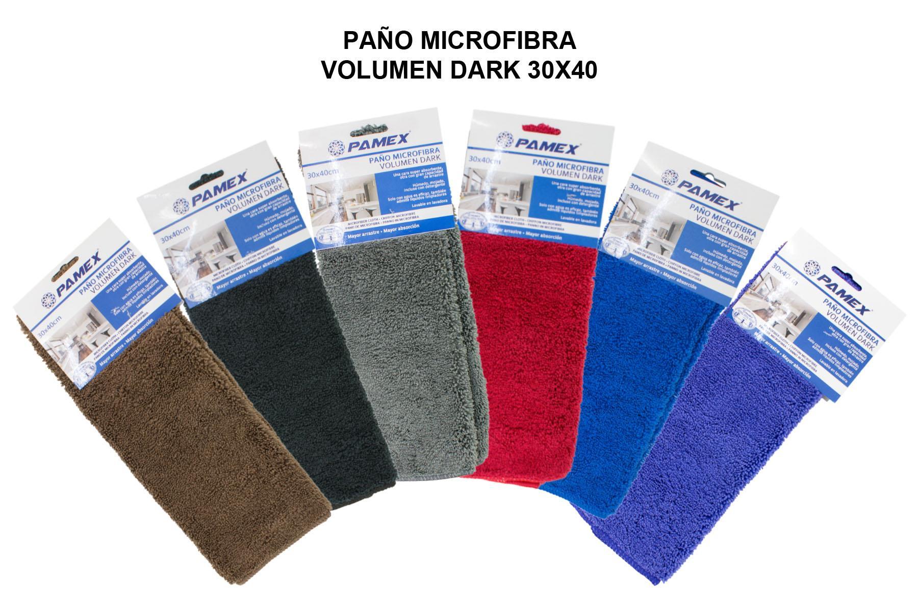 PAÑO MICROFIBRA VOLUMEN DARK 30X40 (PAQ 12 UND)