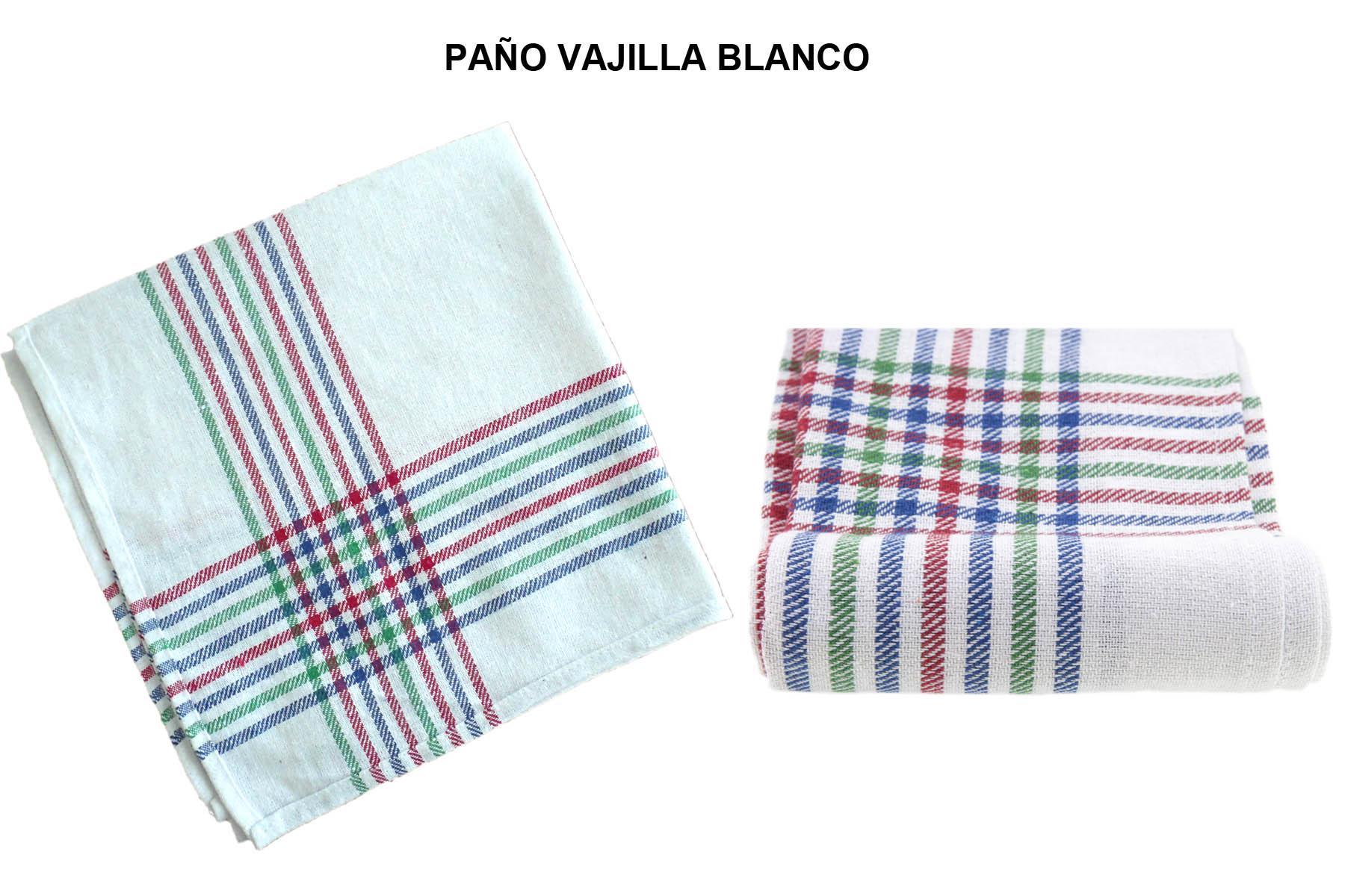 PAÑO VAJILLA BLANCO (PAQ 12 UND)