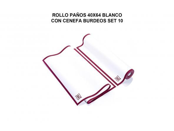 ROLLO PAÑOS 40X64 BLANCO CON CENEFA AZUL ROLL DRAP  (10 UND POR ROLLO) [1]