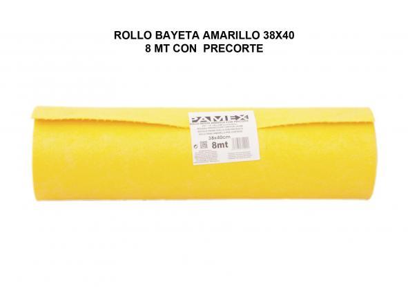 ROLLO BAYETA AMARILLO 38X40 8 MT CON PRECORTE