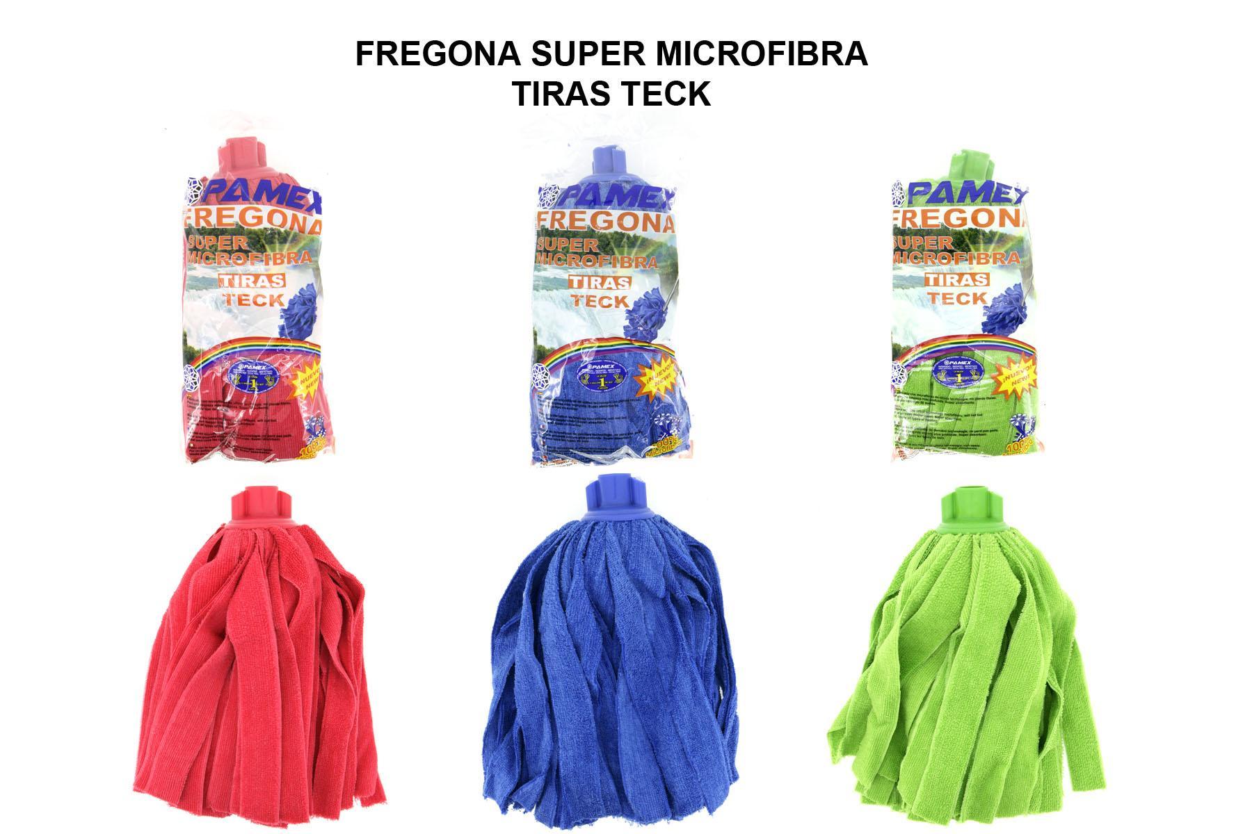 FREGONA SUPER MICROFIBRA TIRAS TECK