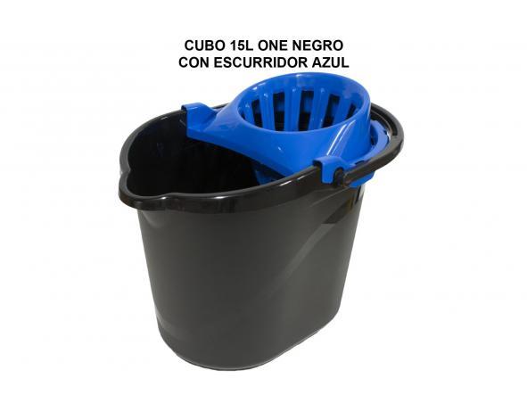CUBO 15L ONE NEGRO CON ESCURRIDOR AZUL