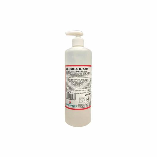 Gel Hidroalcohólico Antiséptico Virucida base alcohol DERMEX D-730