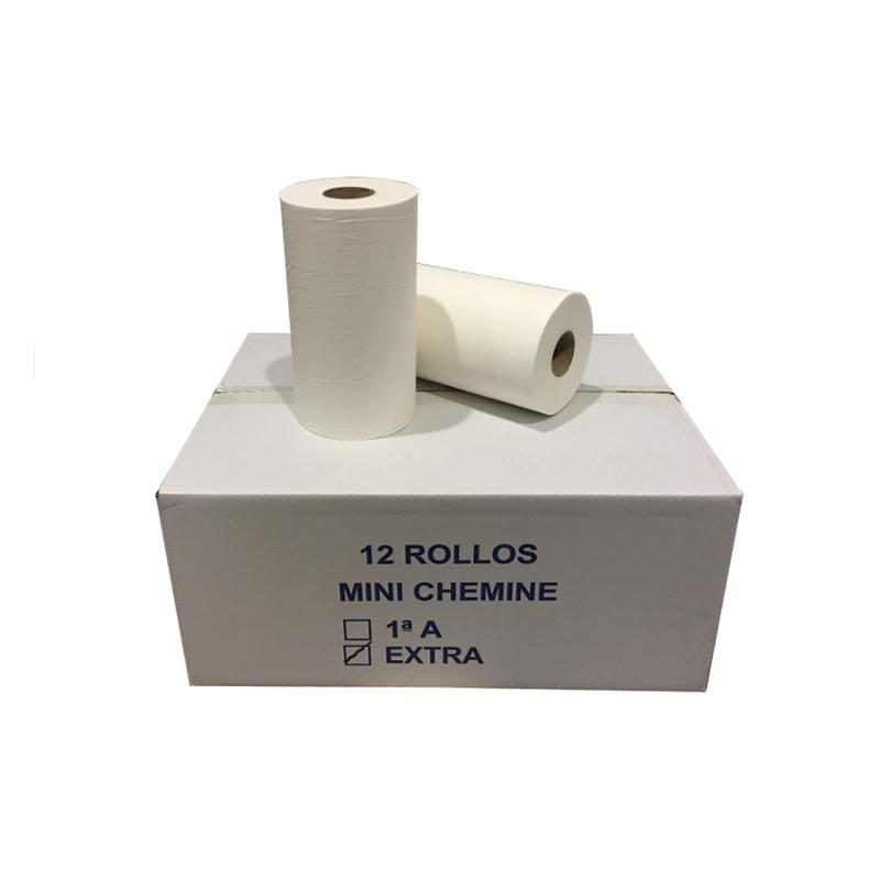 CAJA 12 ROLLOS MINI CHEMINE GOFRADO 2C