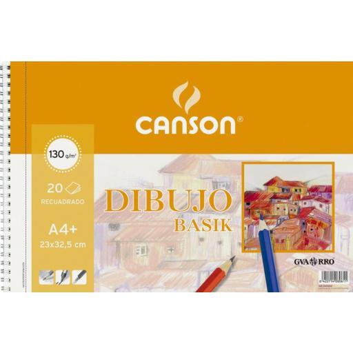 BLOC DE DIBUJO CANSON RECUADRO A4+ 130 GR. 20 U.
