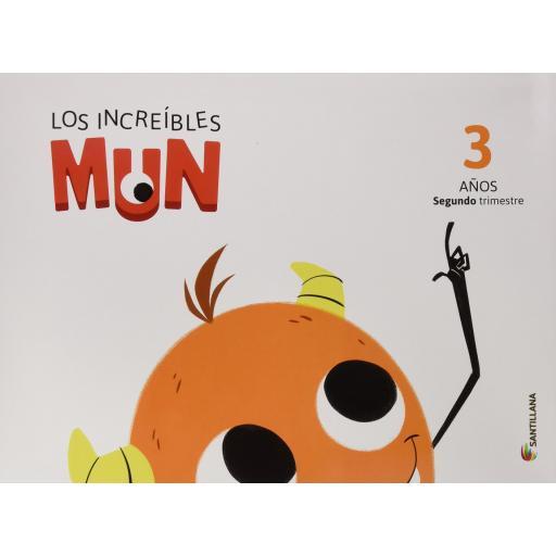 LIBRO DE TEXTO - 1 INFANTIL LOS INCREÍBLES MUN 2 TRIMESTRE 3 AÑOS [0]