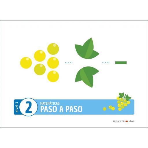 LIBRO DE TEXTO - 1 INFANTIL MATEMÁTICAS NIVEL 1 CUADERNO 2 PROYECTO PASO A PASO