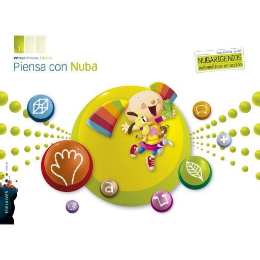 LIBRO DE TEXTO - 1 INFANTIL PIENSA CON NUBA. TRIMESTRE 1. 3 AÑOS