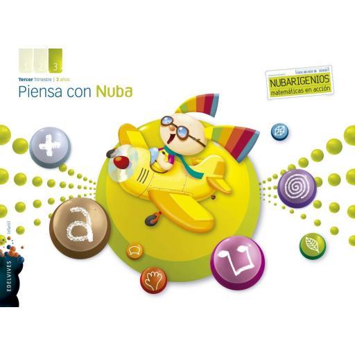 LIBRO DE TEXTO - 1 INFANTIL PIENSA CON NUBA. TRIMESTRE 3. 3 AÑOS