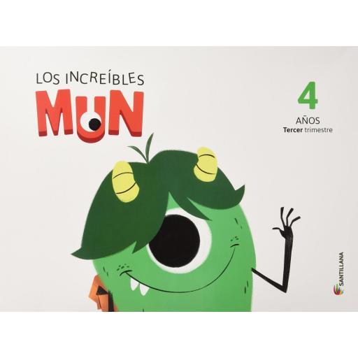 LIBRO DE TEXTO - 2 INFANTIL LOS INCREÍBLES MUN 3 TRIMESTRE 4 AÑOS [0]