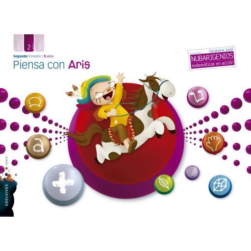 LIBRO DE TEXTO - 3 INFANTIL PIENSA CON ARIS. 2 TRIMESTRE 5 AÑOS