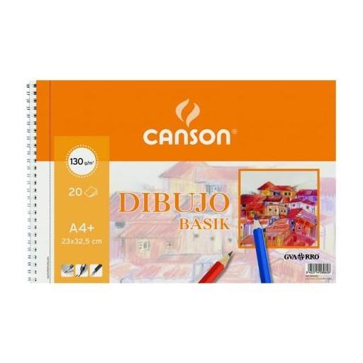 BLOC DE DIBUJO CANSON LISO A4+ 130 GR. 20 U.
