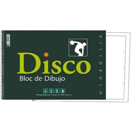 BLOC DE DIBUJO DISCOBOLO RECUADRO A4 130 GR. 20 U.