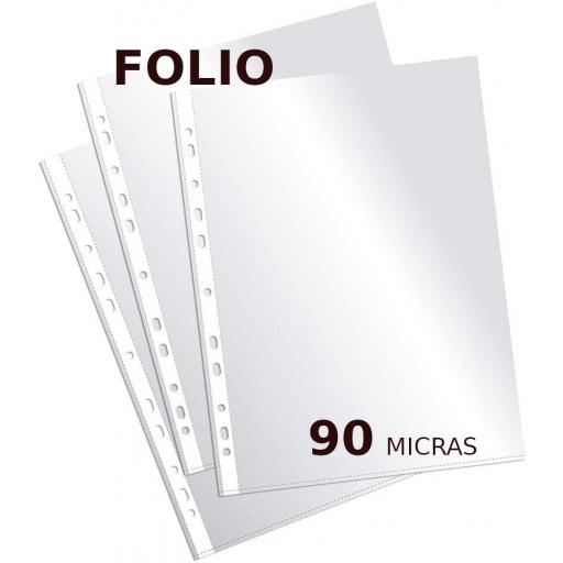 10 FUNDAS CRISTAL FOLIO 90 MICRAS MULTITALADRO