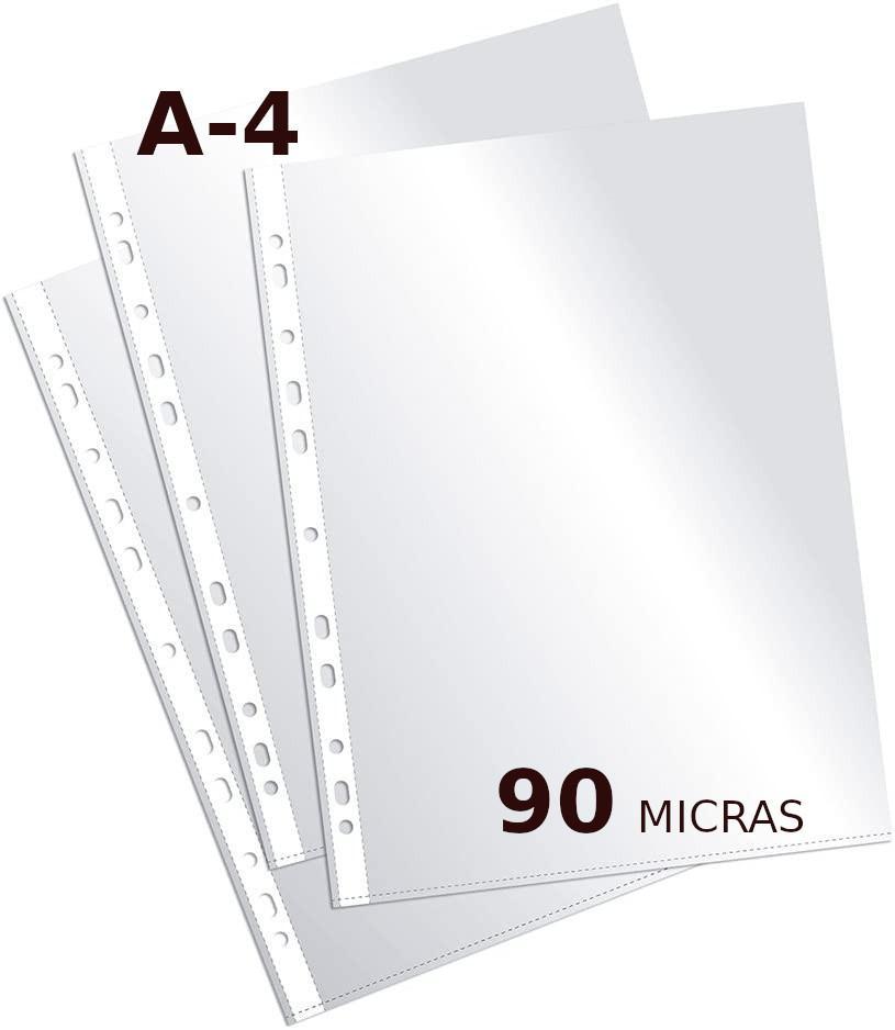 10 FUNDAS CRISTAL A4 90 MICRAS MULTITALADRO