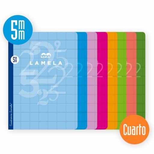 LIBRETA GRAPADA LAMELA CUARTO 5 mm 50 HOJAS [0]