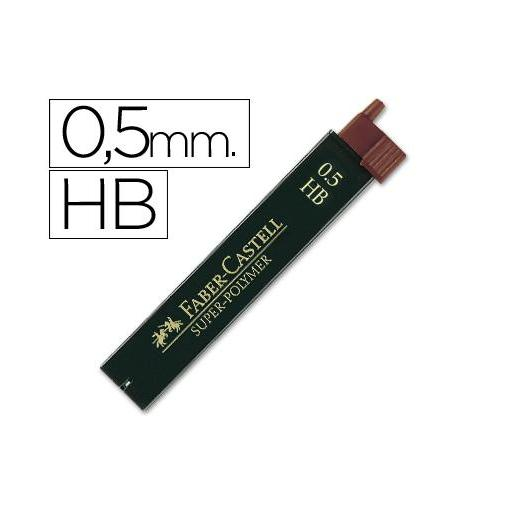 MINAS FABER-CASTELL HB 0,5 mm  12 u.