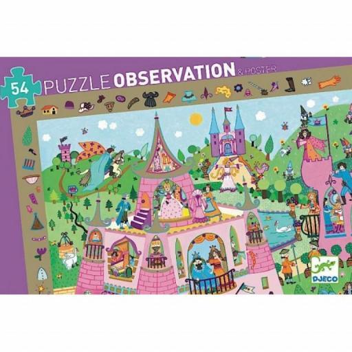 PUZZLE DE OBSERVACIÓN DJECO 54 p. PRINCESAS
