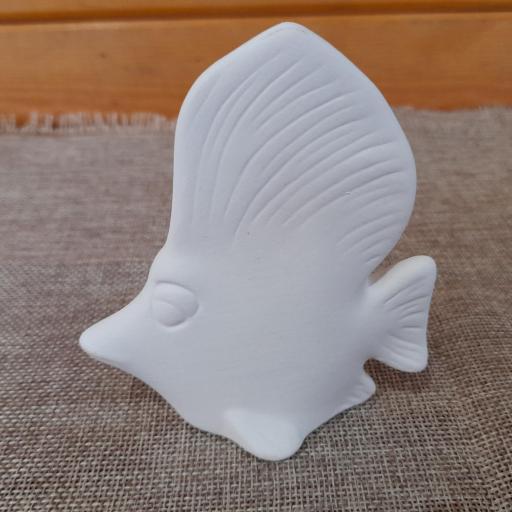 Pinta un pez vela de10 cm