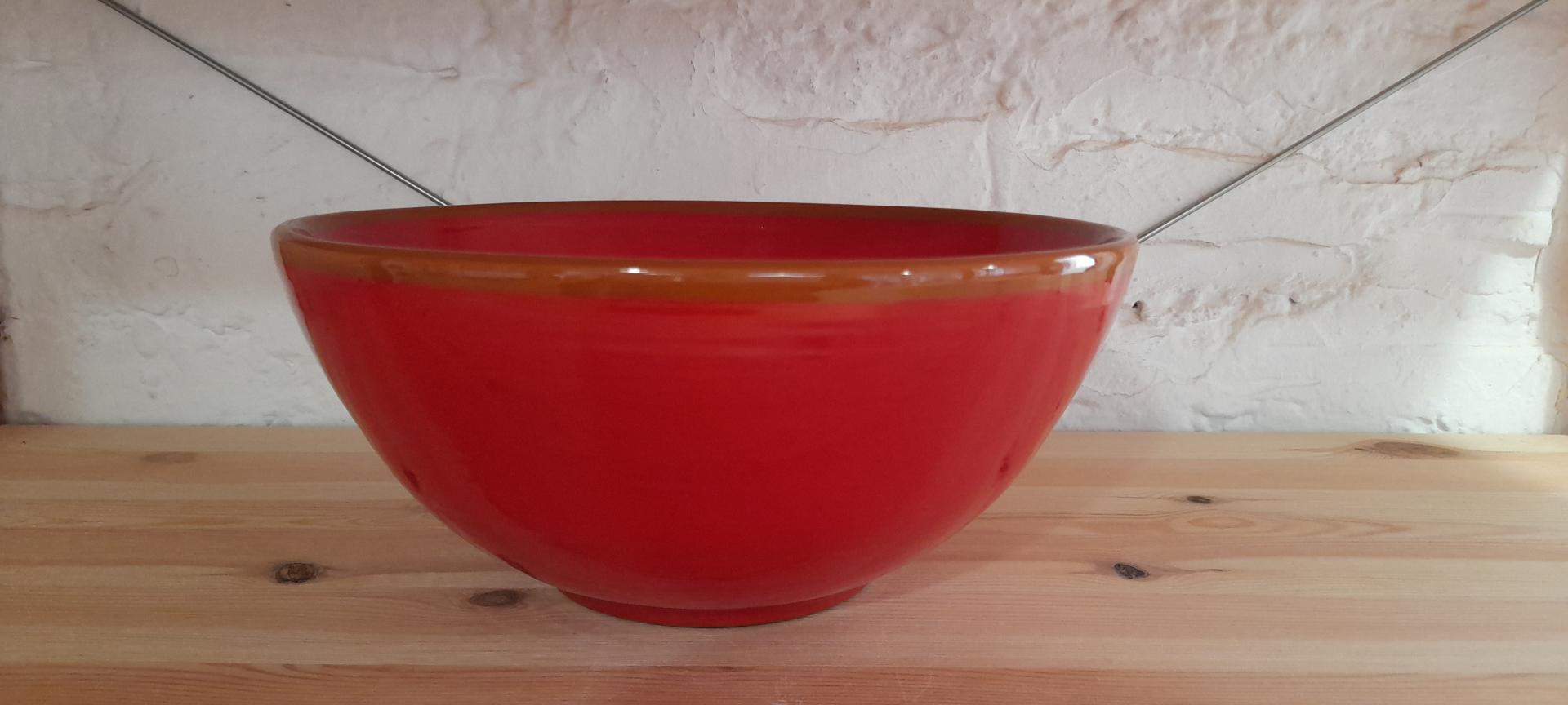Cuenco de 29 cm color rojo