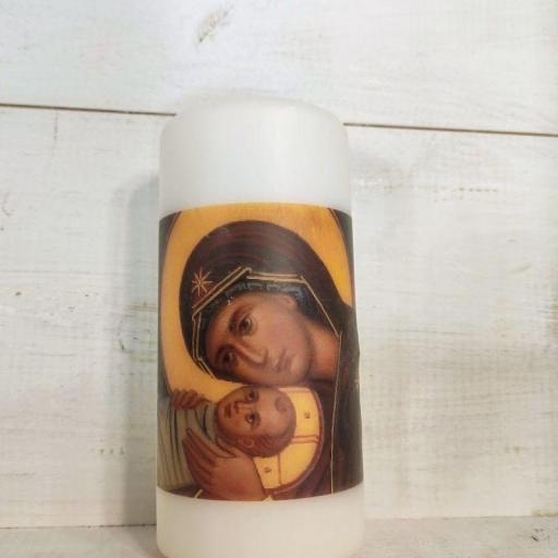 VELA CON ICONO BIZANTINO            (Santa María de Refet)
