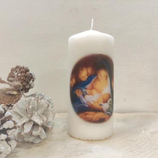 VELA DE NAVIDAD DE LA VIRGEN MARÍA CON EL NIÑO JESÚS           (Nuestra Señora de Refet)
