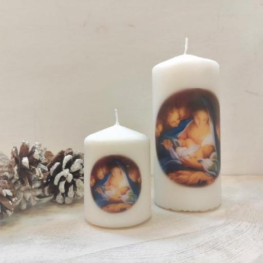 VELA DE NAVIDAD DE LA VIRGEN MARÍA CON EL NIÑO JESÚS           (Nuestra Señora de Refet) [1]