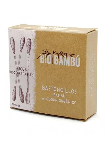 Bastoncillos bambú y algodón ecológico