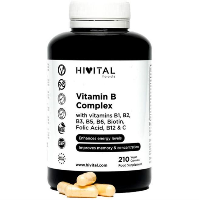 VITAMINA B COMPLEX 210 cápsulas