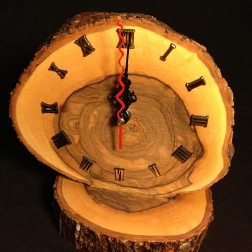Reloj redondo con números romanos