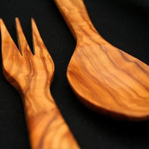 Juego cuchara y tenedor estrecho pequeño [1]