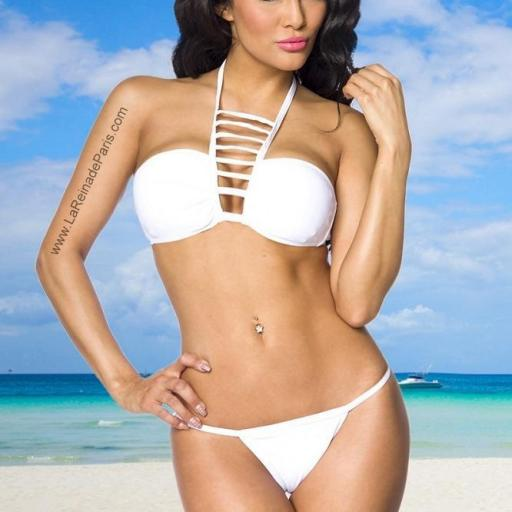 Sexy bikini blanco hermoso Kitty [3]