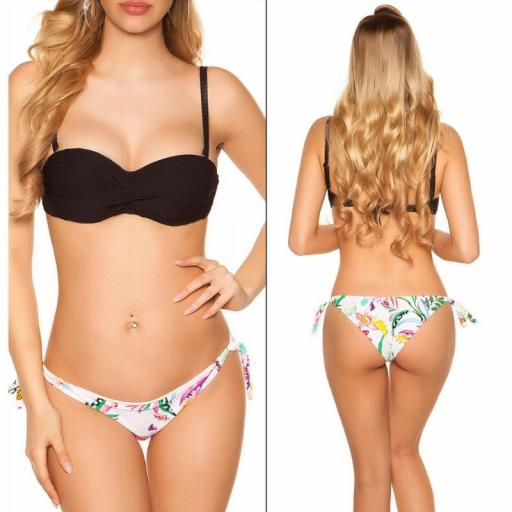 Bikini Mochima push up negro