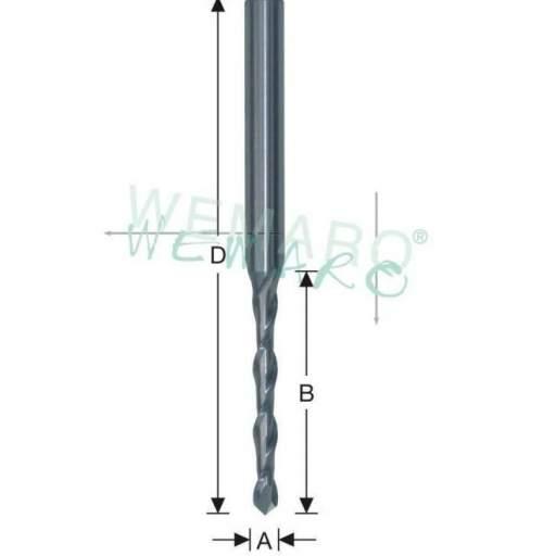 Fresa HSS-E con punta de taladro  - para desagüadoras-