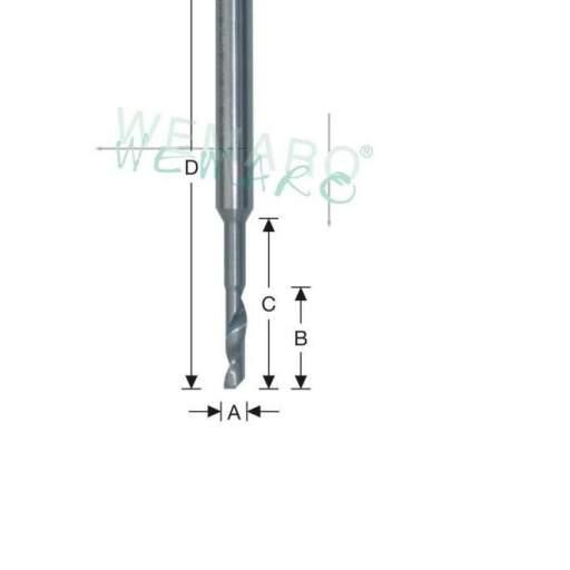 Fresa de un labio VHM 3x16x35x100 V8
