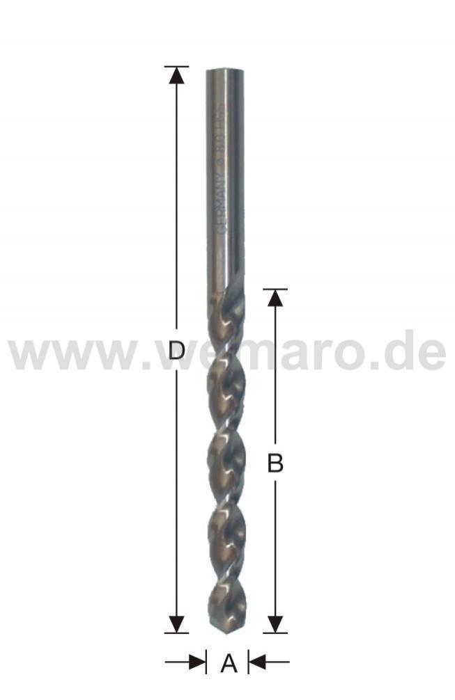 Brocas DIN 340 con recubrimiento cobalto