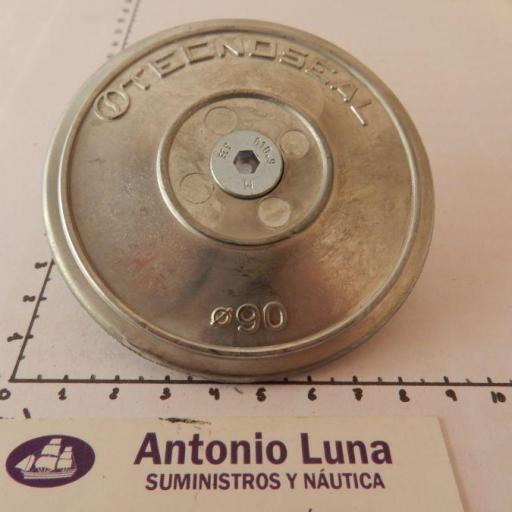 Ánodo de zinc (para timón) disco doble 90 mm Tecnoseal