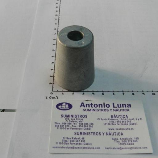Anodo de zinc radice hexagonal para ejes de 30 mm Tecnoseal