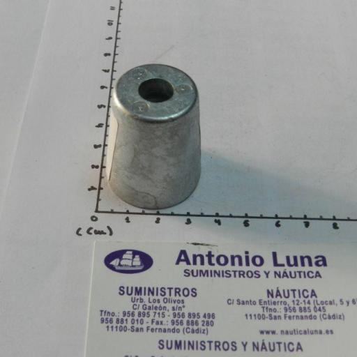Ánodo de zinc radice hexagonal para ejes de 22-25 mm Tecnoseal