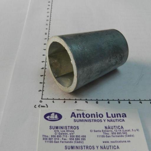 Ánodo de zinc radice hexagonal para ejes de 40 mm Tecnoseal